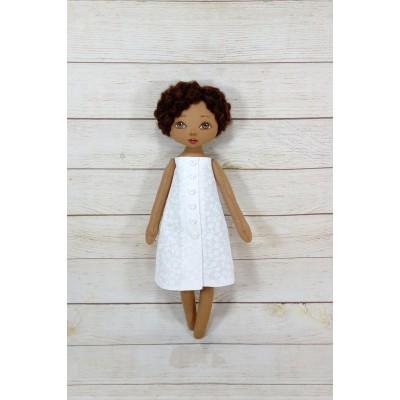 Black Nurse Doll In White Dress