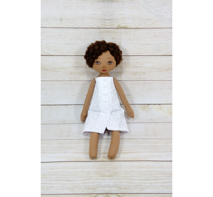 Handmade Black Nurse Doll  | Handmade Blac Rag Doll | Black Doll | nilasdolls.com (2)