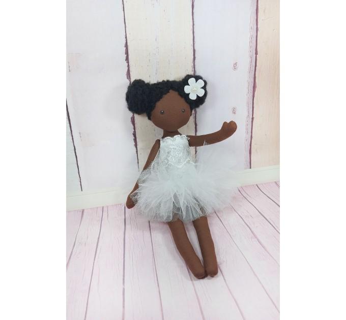 Handmade Black Dolls  In Whire Dress  Black Cloth Dolls   nilasdolls.com (1)