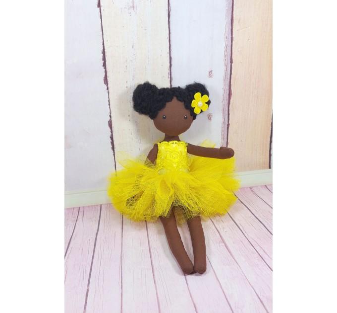 Handmade Black Doll   Handmade Cloth Doll