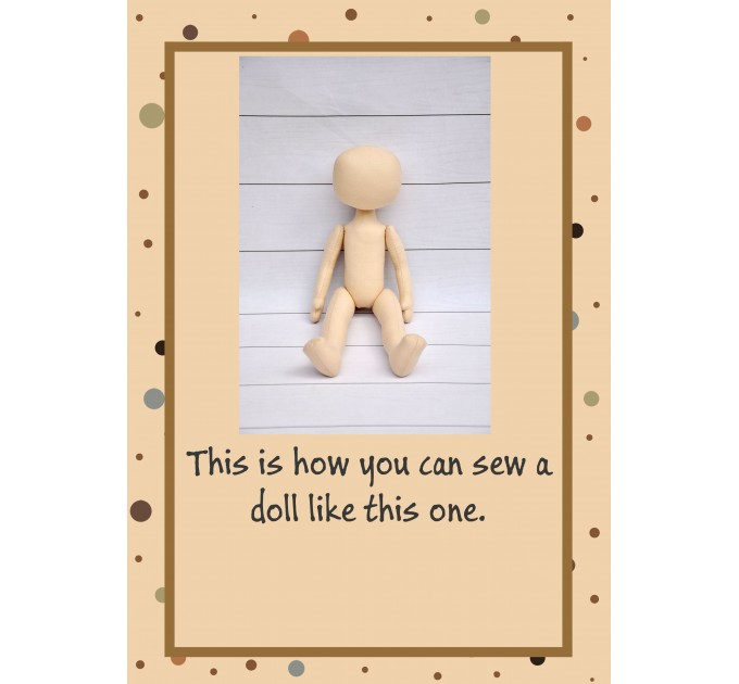 PDF Pattern And Tutorial Dolls Body 12 Inches #1
