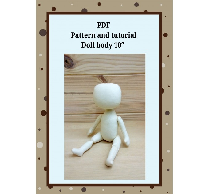 PDF Patterns And Tutorial Doll Body 10 Inches #1