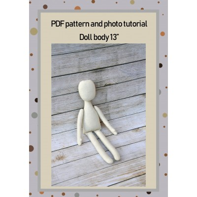 PDF Patterns And Tutorial Doll Body 13 Inches #1