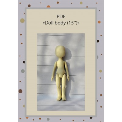 PDF Patterns And Tutorial Doll Body 15 Inches #1