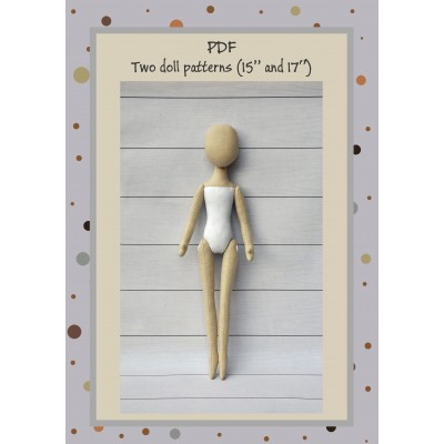 PDF Two Dolls Patterns 15 and 17 Inches
