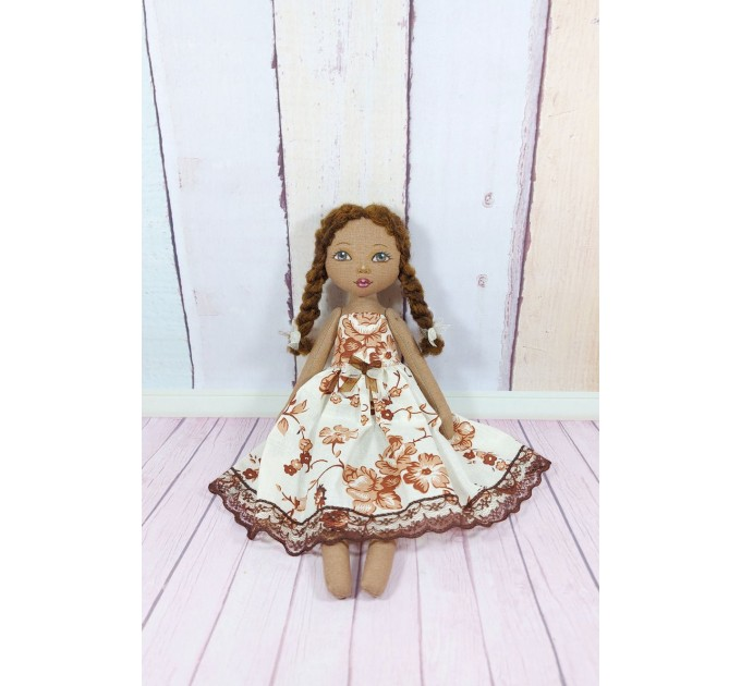 12 Inches Brown Doll
