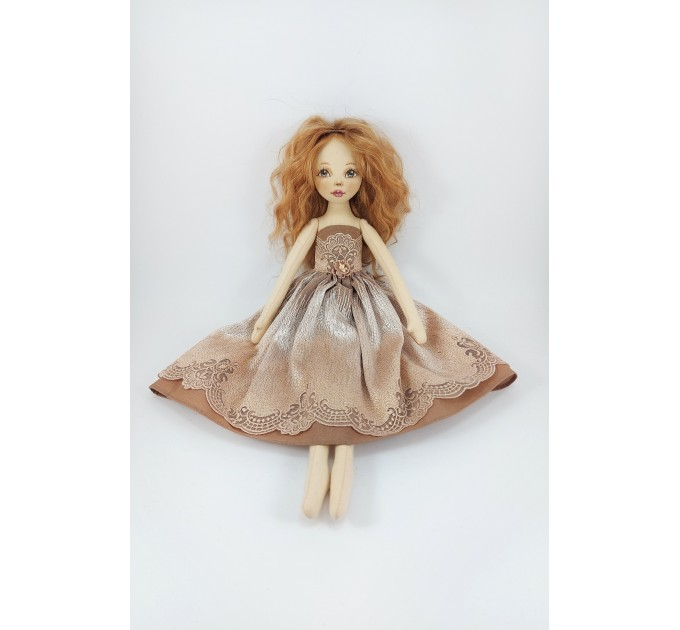 18 Inches Doll In A Brown Dress