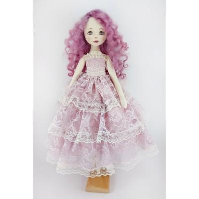 Doll In A Purple Lace Dress