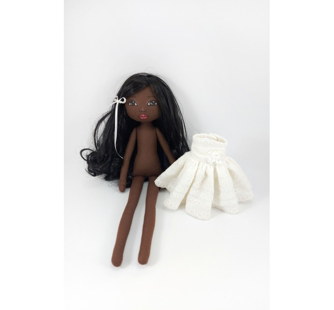 Black African Rag Doll 16 Inches