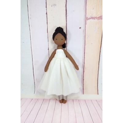 Black Ballerina Doll In White Dress