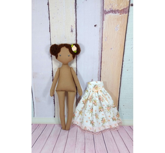 Handmade Brown Cloth Doll   Cloth Doll