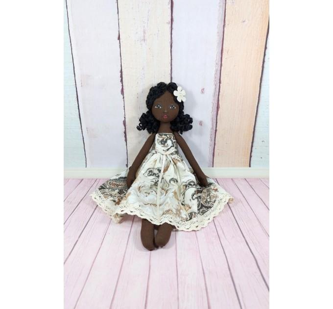 Handmade Black Cloth Doll