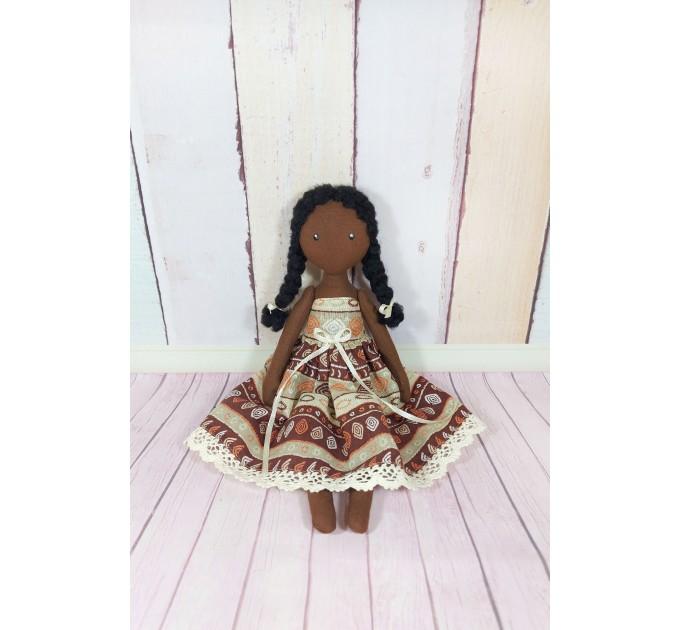 Handmade Black Cloth Doll   Cloth Doll
