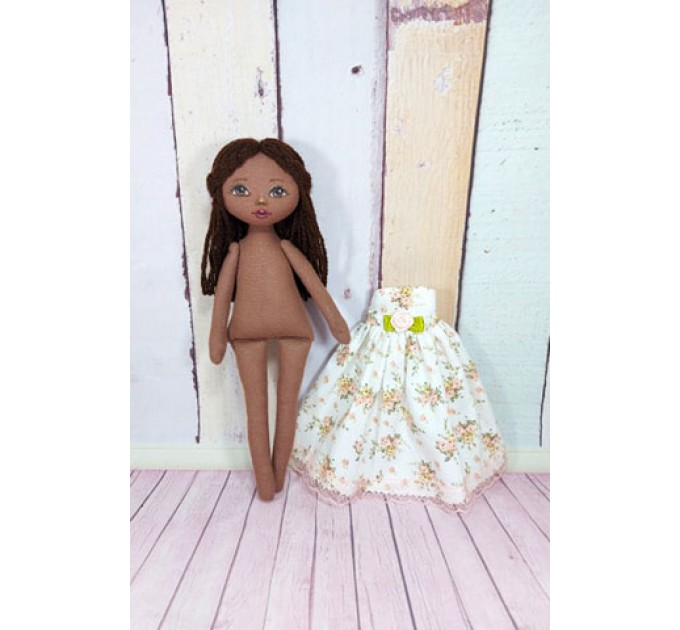 Handmade Rag Doll In  Removable Dress