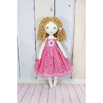 Little Rag Doll In Pink Dress