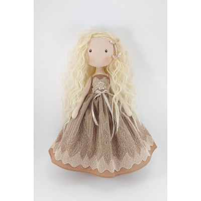 Princess Doll In A Brown Dress