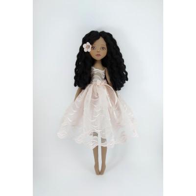 Rag Decorative Brown Handmade Doll