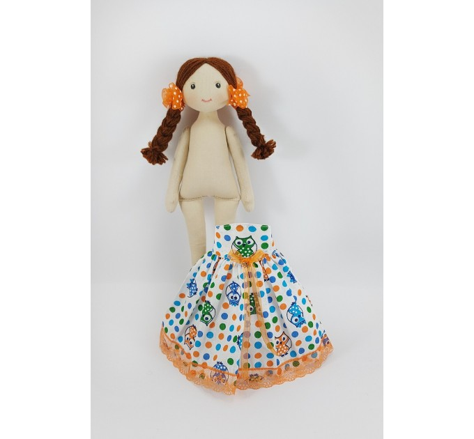 Rag Doll 12 Inches In A White Dress