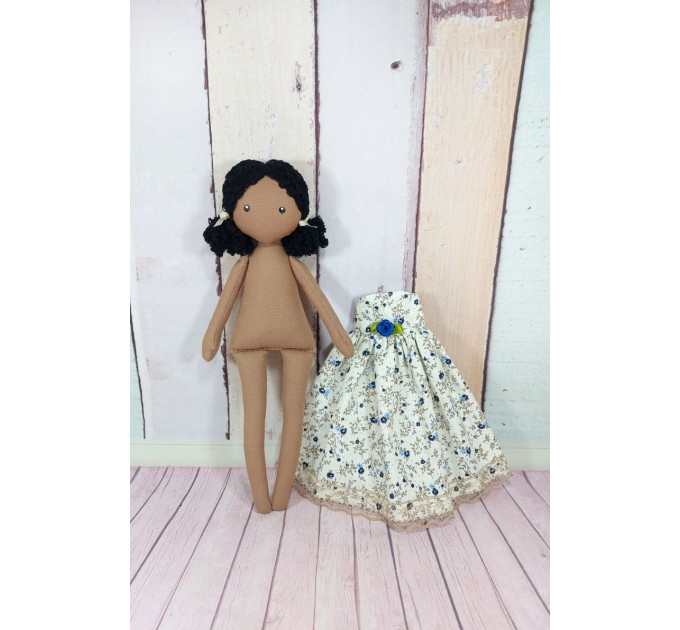 Rag Doll In A Removable Cotton Dress
