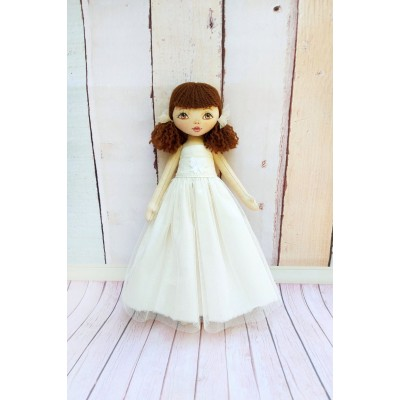 Small Cloth Doll In White Dress