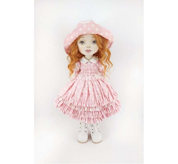 Handmade Cloth Decorative Doll |  Collectible OOAK Art Doll