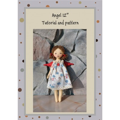 PDF Angel Doll Pattern 12 Inches Sewing Tutorial