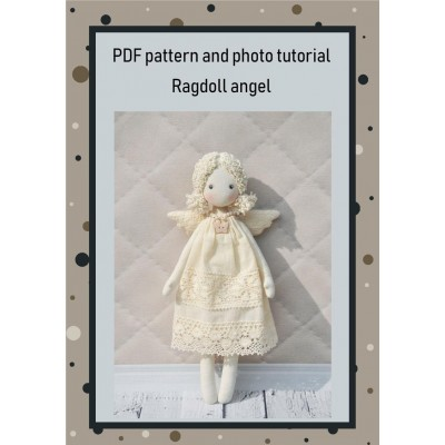 PDF Angel Doll Pattern 13 Inches Sewing Tutorial
