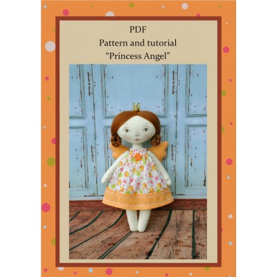 PDF Angel Doll Pattern 8 Inches Sewing Tutorial