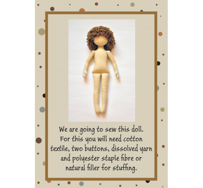 PDF Cloth Doll Pattern And Sewing Tutorial 13 and 15 Inches