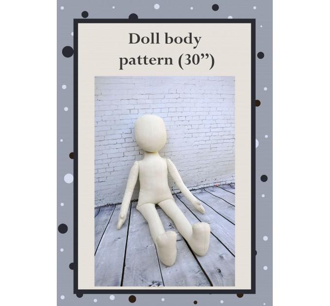 PDF PDF Cloth Doll Pattern 30 Inches