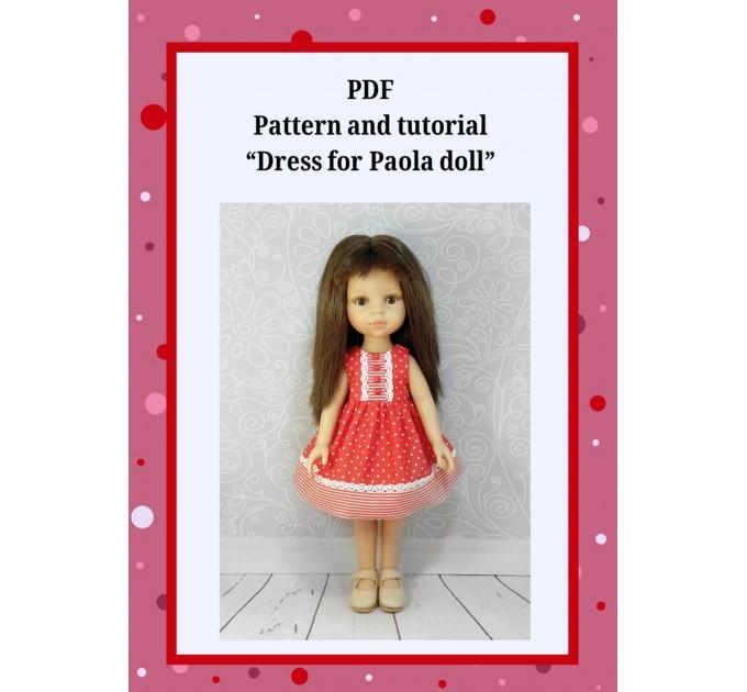 "PDF Pattern & Tutorial "" Dress For Paola Doll"""