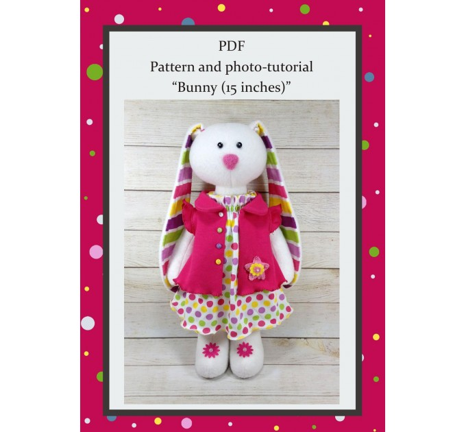 PDF Pattern And Photo Tutorial Bunny In A Dress