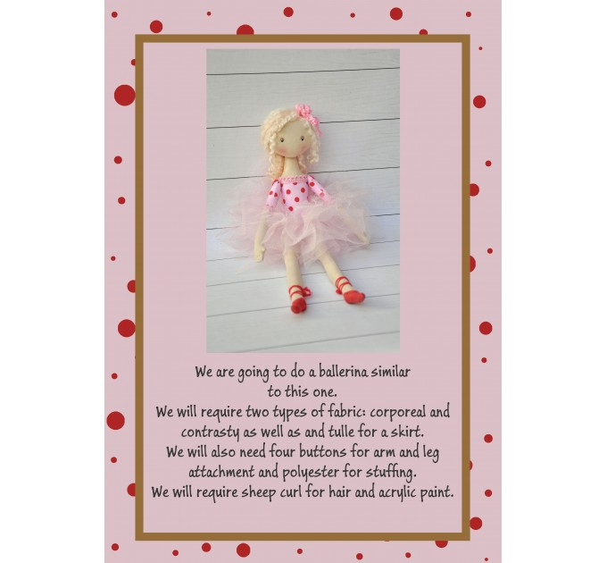 PDF Pattern And Tutorial Ballerian  Doll 15 Inches With The Dress