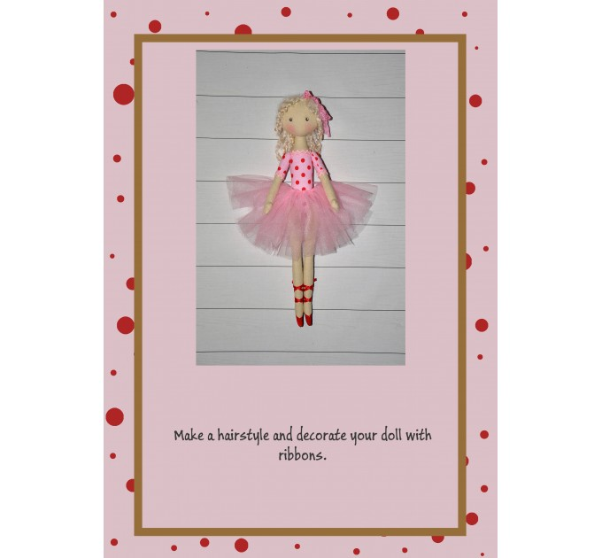 PDF Pattern And Tutorial Ballerian Doll 18 Inches With The Dress