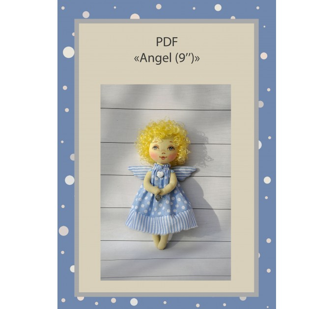 PDF Pattern And Tutorial Of The Angel Doll 9 Inches In A Dress