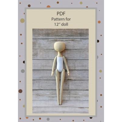 PDF Pattern Ballerina Doll 12 Inches