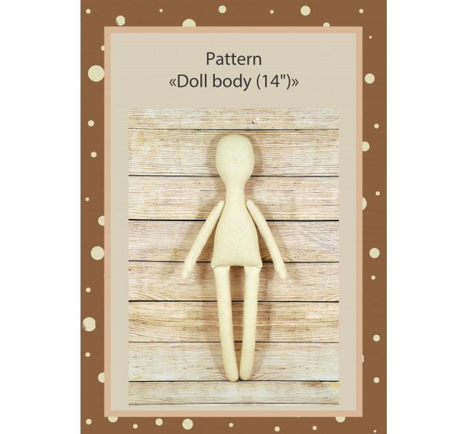 PDF Pattern Dolls Body 14 Inches