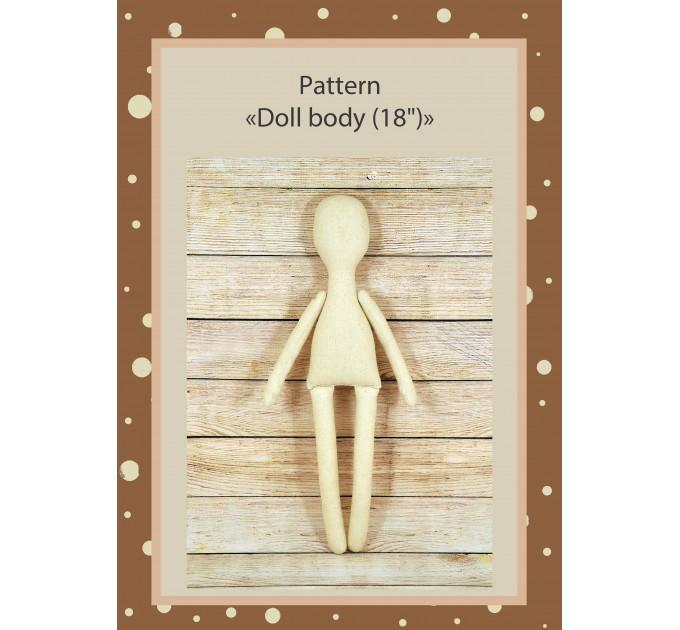 PDF Pattern Dolls Body 18 Inches