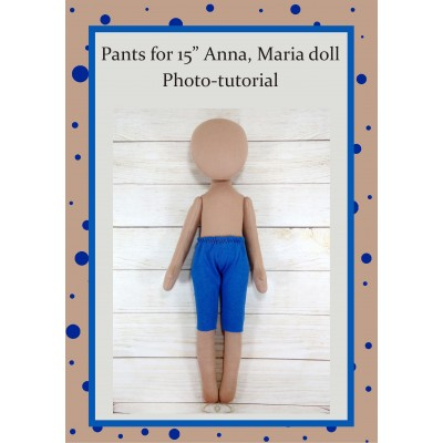 PDF Pattern Sewing Pants For Dolls Anna, Maria. Sewing Foto Tutorial