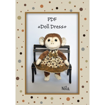 PDF Pattern sewing dresses for dolls Sewing tutorial