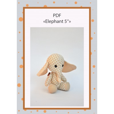 PDF Plush Elephant 5 Inches Pattern & Tutorial