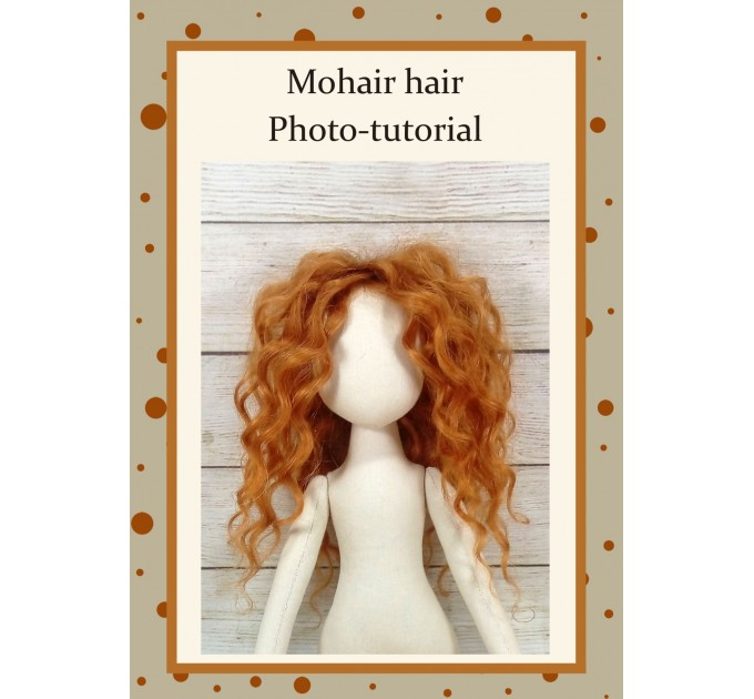 PDF Sewing Tutorial Hairstyle For A Doll From Mohair Hair