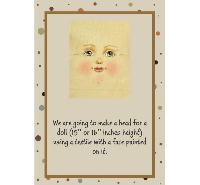 PDF Tutorial Cloth Doll Head