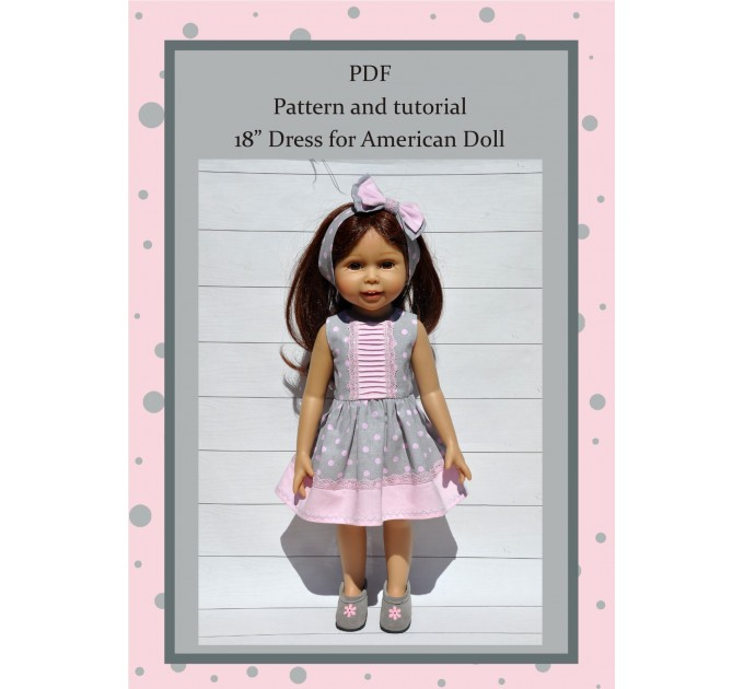 PDF Pattern Of The Dress For Dolls 18 Inches #2