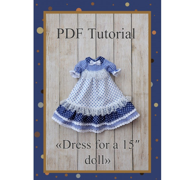 PDF Patter Of The Dress For Dolls 15 Inches #3