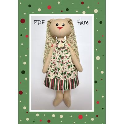 "PDF Pattern & Tutorial ""Hare Girl #1"
