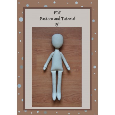 PDF Patterns And Tutorial Doll Body 15 Inches #2