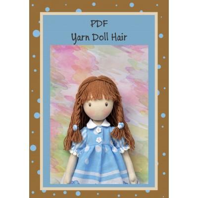 PDF Tutorial Hairstyle For Dolls Hair Yarn #1