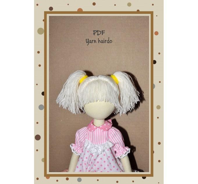 PDF Tutorial Hairstyle For Dolls Hair Yarn #2
