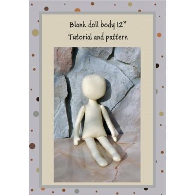 PDF Pattern & Tutorial Dolls Body 12 Inches #2